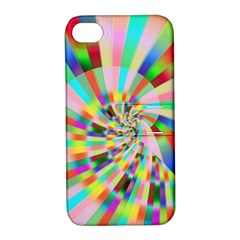 Irritation Funny Crazy Stripes Spiral Apple Iphone 4/4s Hardshell Case With Stand