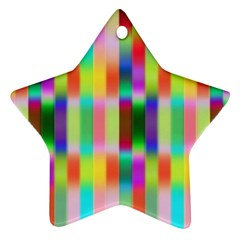 Multicolored Irritation Stripes Star Ornament (two Sides)
