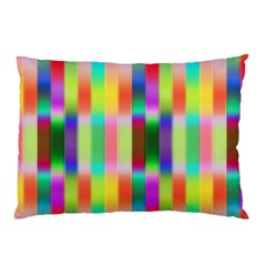 Multicolored Irritation Stripes Pillow Case (two Sides)