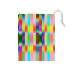 Multicolored Irritation Stripes Drawstring Pouches (medium)