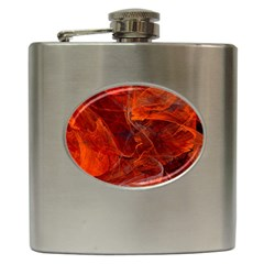 Swirly Love In Deep Red Hip Flask (6 Oz)