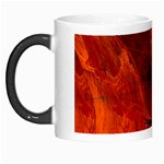 Swirly Love In Deep Red Morph Mugs Left