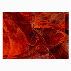 Swirly Love In Deep Red Large Glasses Cloth