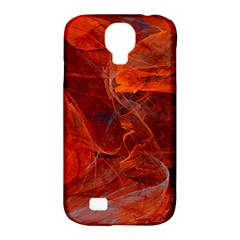 Swirly Love In Deep Red Samsung Galaxy S4 Classic Hardshell Case (pc+silicone)
