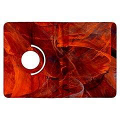 Swirly Love In Deep Red Kindle Fire Hdx Flip 360 Case