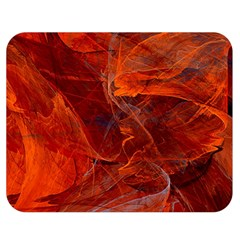 Swirly Love In Deep Red Double Sided Flano Blanket (medium)