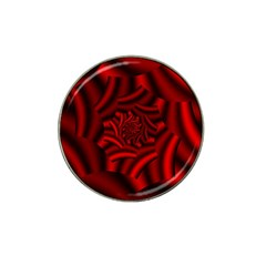 Metallic Red Rose Hat Clip Ball Marker (4 Pack)