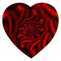Metallic Red Rose Jigsaw Puzzle (heart)