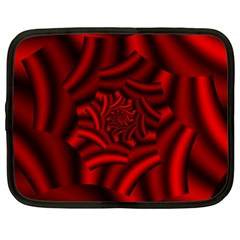 Metallic Red Rose Netbook Case (xxl)