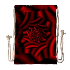 Metallic Red Rose Drawstring Bag (large)