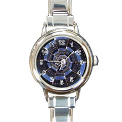 Midnight Crazy Dart Round Italian Charm Watch