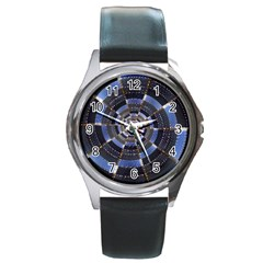 Midnight Crazy Dart Round Metal Watch