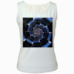 Midnight Crazy Dart Women s White Tank Top