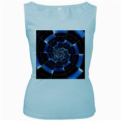 Midnight Crazy Dart Women s Baby Blue Tank Top