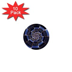 Midnight Crazy Dart 1  Mini Buttons (10 Pack)