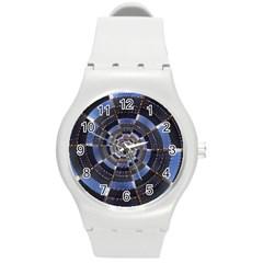 Midnight Crazy Dart Round Plastic Sport Watch (m)