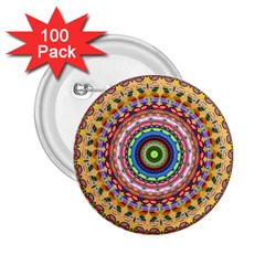 Peaceful Mandala 2 25  Buttons (100 Pack)