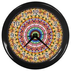 Peaceful Mandala Wall Clocks (black)