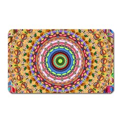Peaceful Mandala Magnet (rectangular)