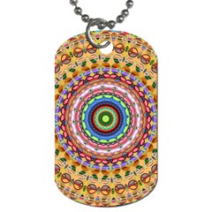 Peaceful Mandala Dog Tag (one Side)