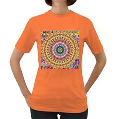 Peaceful Mandala Women s Dark T Shirt