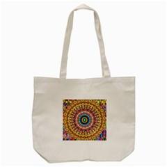 Peaceful Mandala Tote Bag (cream)
