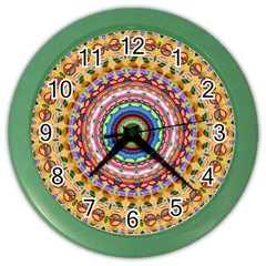Peaceful Mandala Color Wall Clocks