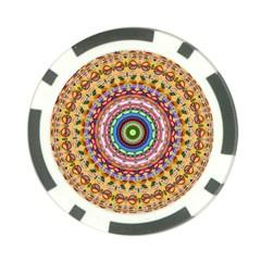 Peaceful Mandala Poker Chip Card Guard (10 Pack)
