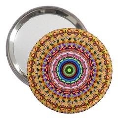 Peaceful Mandala 3  Handbag Mirrors