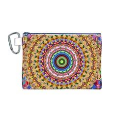Peaceful Mandala Canvas Cosmetic Bag (m)