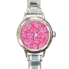The Big Pink Party Round Italian Charm Watch