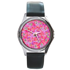 The Big Pink Party Round Metal Watch