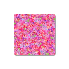 The Big Pink Party Square Magnet