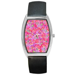 The Big Pink Party Barrel Style Metal Watch
