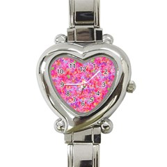 The Big Pink Party Heart Italian Charm Watch