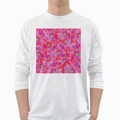 The Big Pink Party White Long Sleeve T Shirts