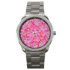 The Big Pink Party Sport Metal Watch