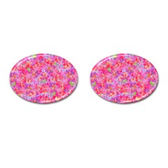 The Big Pink Party Cufflinks (oval)