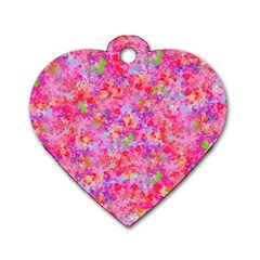 The Big Pink Party Dog Tag Heart (one Side)