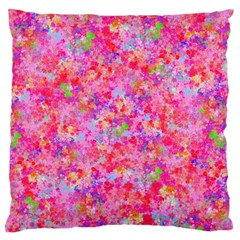 The Big Pink Party Large Cushion Case (two Sides)