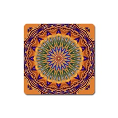 Powerful Mandala Square Magnet