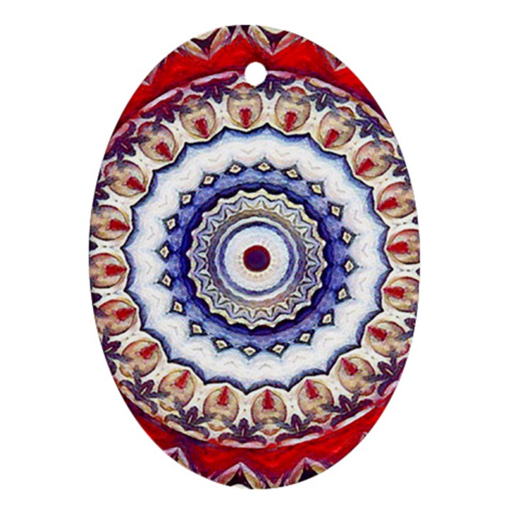 Romantic Dreams Mandala Oval Ornament (Two Sides)