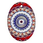 Romantic Dreams Mandala Oval Ornament (Two Sides) Back