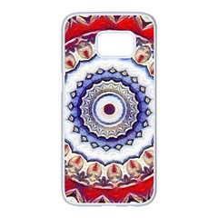 Romantic Dreams Mandala Samsung Galaxy S7 Edge White Seamless Case