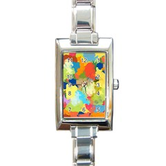 Summer Feeling Splash Rectangle Italian Charm Watch