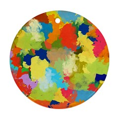 Summer Feeling Splash Ornament (round)