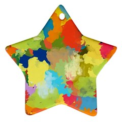 Summer Feeling Splash Ornament (star)