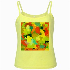 Summer Feeling Splash Yellow Spaghetti Tank