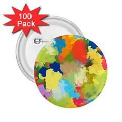Summer Feeling Splash 2 25  Buttons (100 Pack)