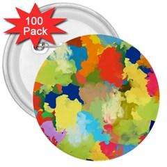 Summer Feeling Splash 3  Buttons (100 Pack)